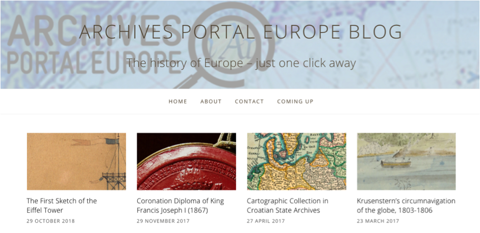 Archives Portal Europe Blog